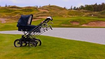 KiddyKaddy - Gör om barnvagnen till en rullande golfbag