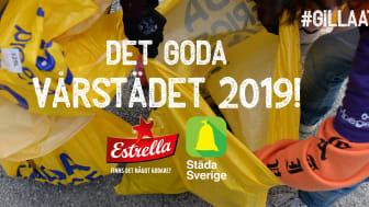 Det goda vårstädet 2019 är ett samarbete mellan Estrella och organisationen Städa Sverige