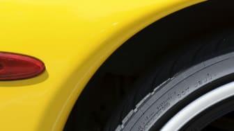Var i landet är det störst chans att se en gul bil?