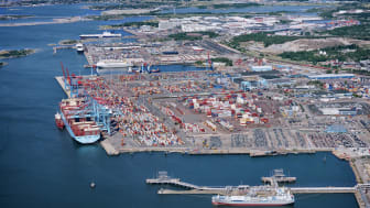 In 2018, 753,000 containers (TEU) were handled at the Port of Gothenburg. Photo: Gothenburg Port Authority.