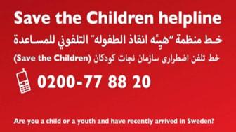 Ett år med Rädda Barnens stödlinje för nyanlända barn i Sverige: Det här frågar barnen om.
