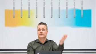 Mandus Rudholm ansvarar för försäljningen av Proton Lightings produkter i östra Sverige.