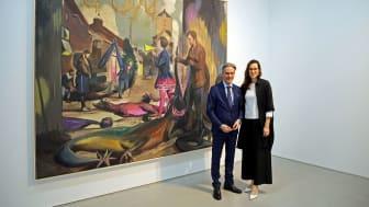 Steffen Hildebrand und Anka Ziefer präsentieren in der G2 Kunsthalle vom 30.01. bis 10.05.2020 Werke von Neo Rauch - Foto: Isabell Gradinger