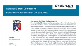 procilon Referenz Stadt Oberhausen Elektronischer Rechtsverkehr und WiNOWiG