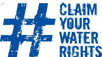 #ClaimYourWaterRights campaign logo