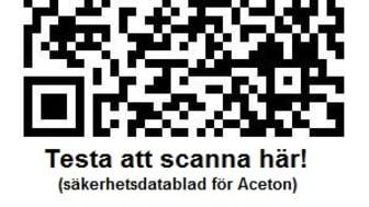 Testa att scanna QR-koden här