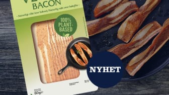 Danish Crown Foods Sweden lanserar vegetariskt bacon