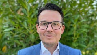 Tillträdande avdelningschef för Byggnads AB Tornstaden Syd Mats Anebreid