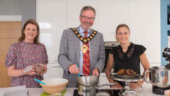 Karen Graham and Angela Patterson with Mayor of Mid and East Antrim, Councillor William McCaughey