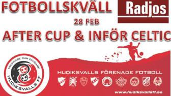 Öppen inbjudan till fotbollskväll på Radjos efter mötet mot Svenska Mästarna 28 feb!