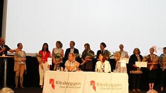 Stipendieutdelning på Riksbyggens Fullmäktigemöte den 16 maj 2018.