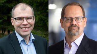 T.v.: Jens Lundström, vd för Arctic Business Incubator AB och Arctic Ventures Ett AB. T.h.: Peder Hasslev, vd för Saminvest AB