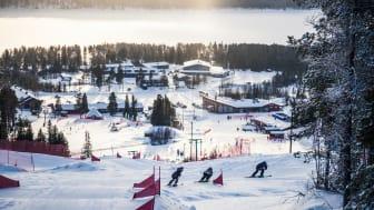 Skicross i Lofsdalen. Foto: Lofsdalen
