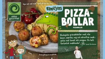 Nu släpper Ekko Gourmet mumsiga och vegetariska pizzabollar för hela familjen!