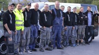 Glada miner hos Ekenhusets golv- och badrumsmontörer
