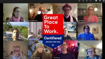 Firar digitalt (såklart) att MUM återigen blivit utnämnt till ett Great place to work!