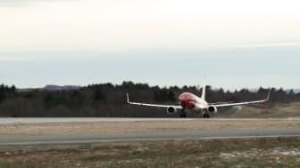 Take-off LN-DYH at BGO
