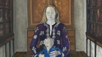 Lena Cronqvist, Modern, 1975. Olja och tempera på duk, 169 x 126 cm. Foto: Per Myrehed, Norrköpings Konstmuseum. Bild beskuren.
