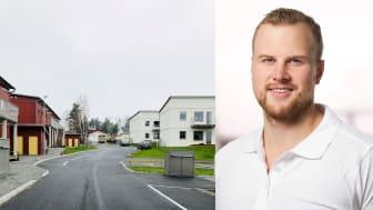 BoKlok Solbacka och kundansvarig säljare i projektet, Johan Stenis.