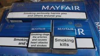 HMRC seized cigarettes