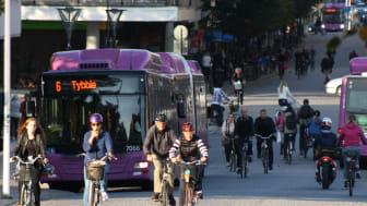 Hur kan stadens trafik påverka hälsan positivt?