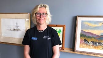 Marita Gullberg, samordnare/handledare på Gotthems Secondhand. Foto: Skyddsvärnet