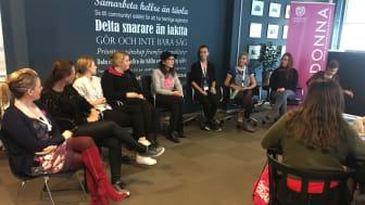 Panelsamtal under DONNA-dagen 2018. Foto: Högskolan i Skövde