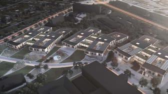 Arkitema skal være byggeleder på det kommende Bispebjerg psykiatri, der er udarbejdet af Friis & Moltke og PLH Arkitekter.
