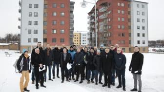 På Nordanby Äng i Västerås fick europeiska bostadsföretag veta mer om industriella metoder för att bygga trähus.