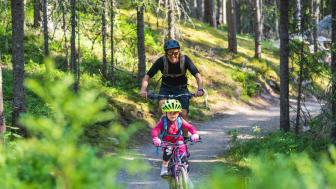 Skikjører Anders Backe har vært i Trysil sammen med hele familien i sommer. Foto: Jonas Sjögren