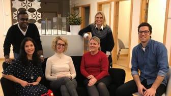 Övre raden från vänster: Andreas Olsson, Mia Karlsson, Louise Nordlander, Cecilia Lideskog, Maria Lundqvist och Marcus Strömsten. På bilden saknas Maarja Edman, Katrin Larsson och Elina Flink.