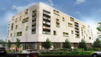 Kvarteret Docenten - 248 nya studentbostäder på Campus