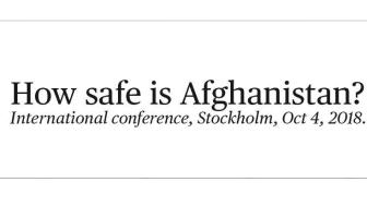 """Lyckad konferens """"How safe is Afghanistan?"""" 4 oktober 2018"""