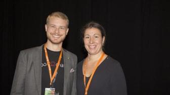 Rikard Lundgren, adept och Anna Sjödin, mentor, deltog i mentorprogrammet 2017