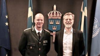 Klas Eksell, Försvarsmaktens Personaldirektör och Henrik Dider, HR-direktör Scandic Sverige.