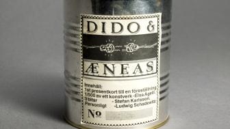 Presentkort på konserv, Dido & Æneas, Utomjordiska BarockBolaget, 1992. Göteborgs stadsmuseum.