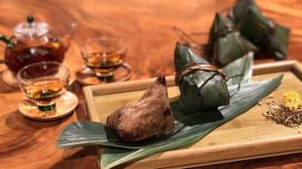 Flower Tea Rice Dumpling with Assorted Beans (五花茶六豆粽)