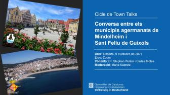 Town Talk: trobada virtual entre els municipis agermanats de Mindelheim i Sant Feliu de Guíxols