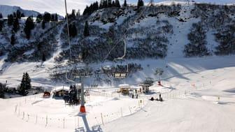 Sesselbahnen Maulerhubel und Allmiboden im Wintersportgebiet Mürren - Schilthorn