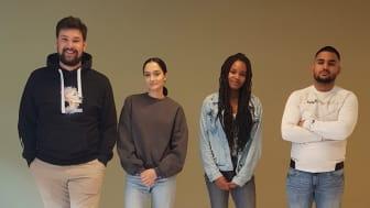 Fra venstre: Kevin Khan, Kaynat Khan, Nkemdilim Okolo og Abubhakar Iftikhar