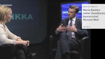 Video: Maria Rankka möter Swedbanks koncernchef Michael Wolf