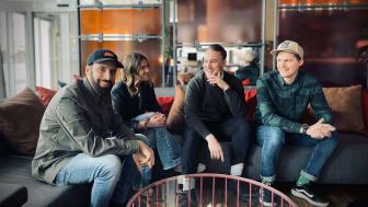 Gänget bakom The Guilty Pleasure Cafe på Comfort Hotel Winn.Från vänster: Peter Haghjoo, Sanna Johansson, Karl-Martin Edin & Pär Lindsköld.