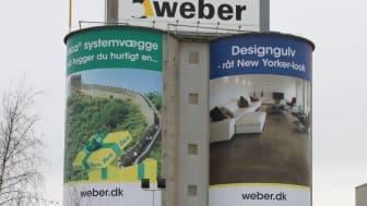 Siloerne på Webers nuværende fabrik