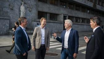 02_from left_Fredrik Logenius (vd Optidev), Marius Drefvelin (CFO Techstep), Jens Haviken (vd Techstep) och Christian Lundin (Optidev)_photo by Marthe Haarstad.jpg