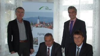 Eging am See und das Bayernwerk schlossen einen neuen Konzessionsvertrag über die Erdgasversorgung.