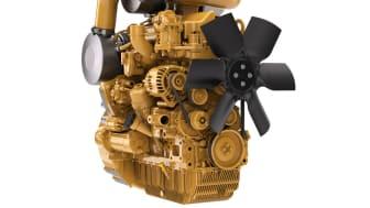 CAT C3.6 EU steg V med motormonterad avgasrening. Avgasreningen kan även monteras vid sidan av motorn, för flexibel anpassning i maskinen.