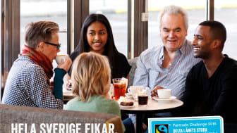 Över 540 000 deltagare i 11 000 fikapauser  från norr till söder i Sveriges största fika.