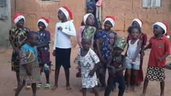 African children singing Christmas carol for Hope Spring eCard