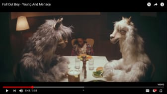 A YouTube screen grab of Fall Out Boy's Young And Menace music video