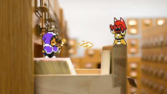 Figurerna från spelet Alwa's Awakening (Elden Pixels) har flyttat in i bibliotekets arkiv. Nu satsar KB på att samla in ännu fler digitala spel.